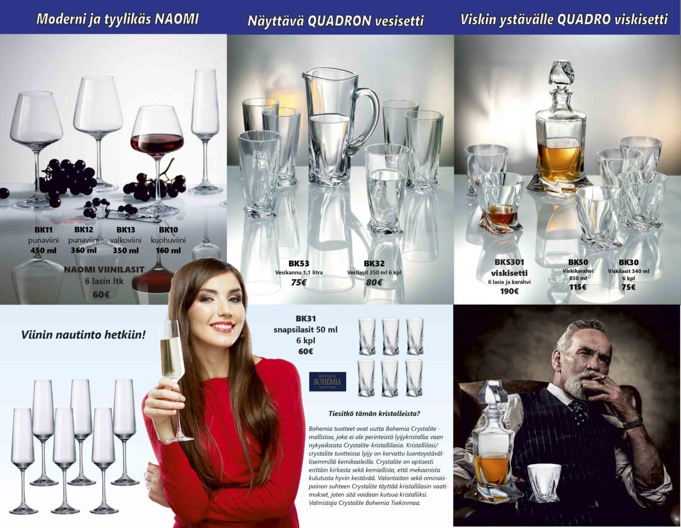 Bohemia-viinilasi-viskilasi-kuohuviinilasi