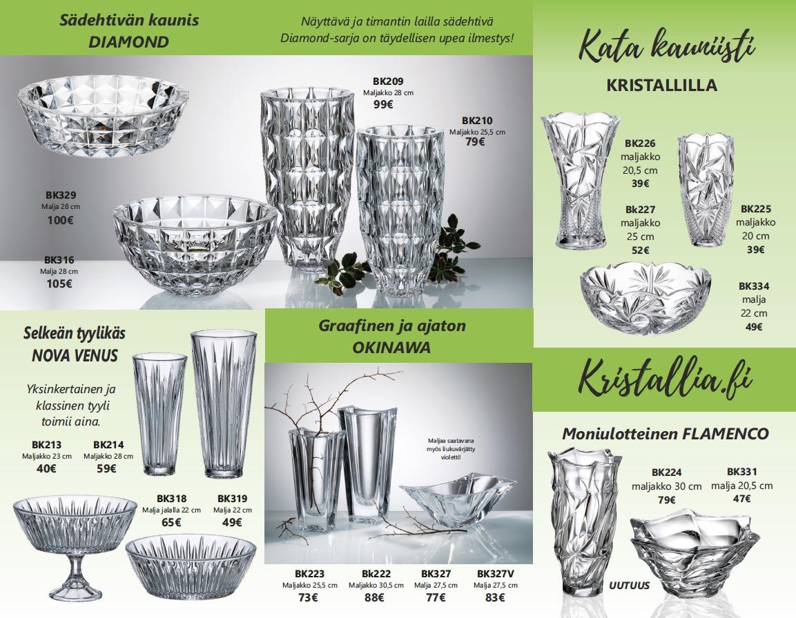 Kristallia.fi kristallikuvasto jälleenmyyjät